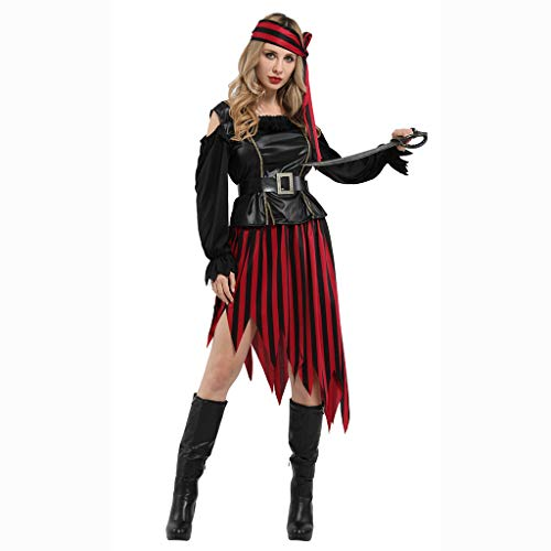 Kostüm Dress Weibliche Up - Cosplay Erwachsene Piraten Kostüm Kleid Weibliche Maskerade Dress Up Halloween Kostüm Kostüm Für Kinderkleidung M(165-175CM)