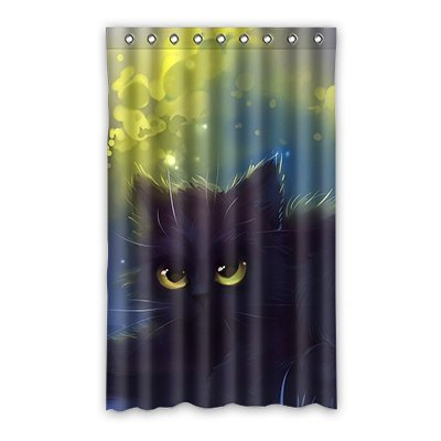 Dalliy Funny cat Fenstervorhang Vorhang Window Curtain Polyester 52