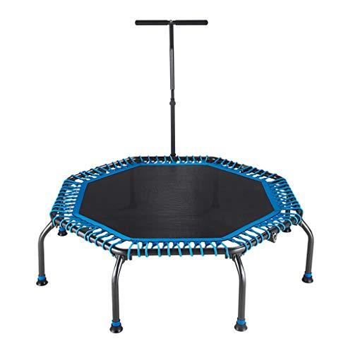 Indoor-Trampolin - SportgeräTe FüR Erwachsene - Mit Armlehnen-Trampolin - Faltbar Und Einfach Zu Verstauen - Stumm - Achteckiges Design - Maximale Belastung 100 Kg