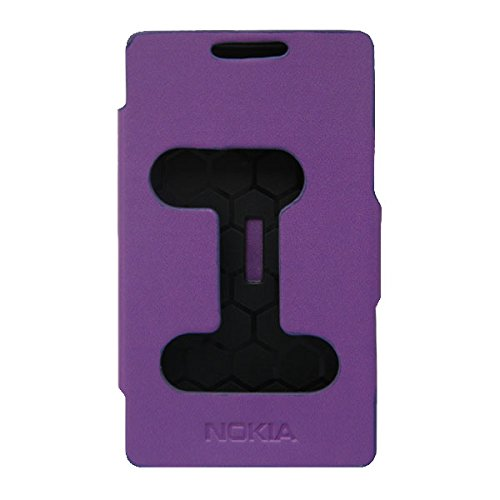 Acm Caller Id Case For Nokia X Android Mobile Table Talk Flip Cover Stand-Purple  available at amazon for Rs.329