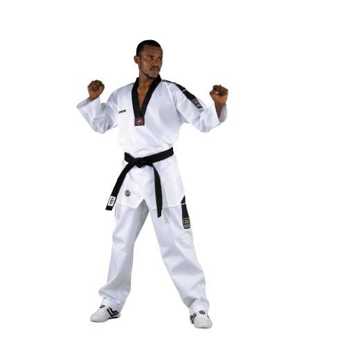 Kwon Dobok TKD Anzug Grand Victory M Bestickung ohne Gürtel, Weiß, 180, 1017180
