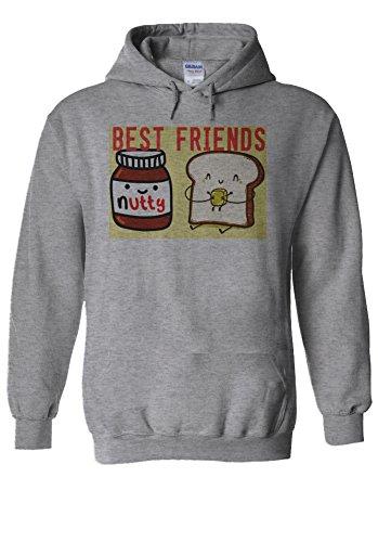 Best Friends Nutella And Butter Bread Sports Grey Men Women Unisex Hooded Sweatshirt Hoodie-L Butter Sweatshirts