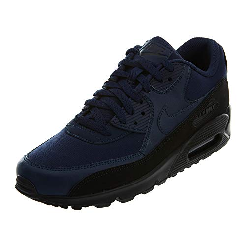 Nike Herren Air Max 90 Essential Sneakers Mehrfarbig (Black/Midnight Navy 001) 42.5 EU