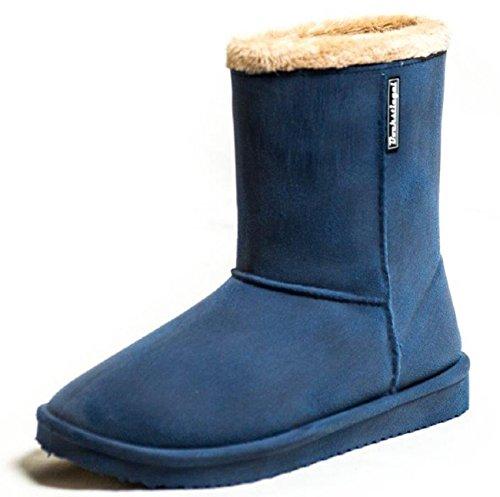 Bockstiegel Damen Gummistiefel Vanessa Warmfutter im Boot -Design, Blau, 39 EU
