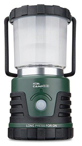 LiteXpress CAMP 33 Camping Laterne, 12 Hochleistungs-LEDs, 3 Farbtemperaturen, bis zu 530 Lumen ANSI FL1, Kunststoffgehäuse, grün / schwarz LXL910078B