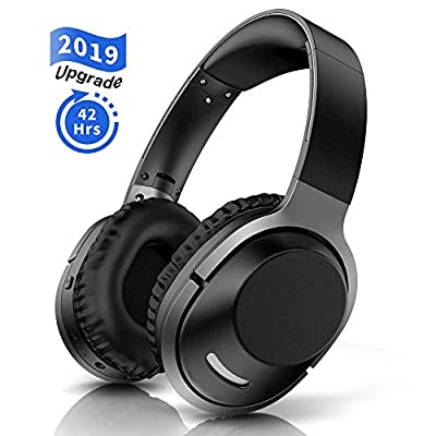 Bluetooth Wireless Headphones Over Ear Foldable Wireless Hi-Fi Bass Stereo Headphones Wireless and Wired Mode Headset with Integrated Microphone