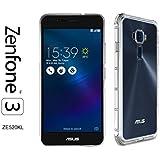 Asus Zenfone 3 (ZE520KL) - Coque Housse étui silicone premium - Transparent - Air Cushion Corners (semi rigide - chocs absorption)