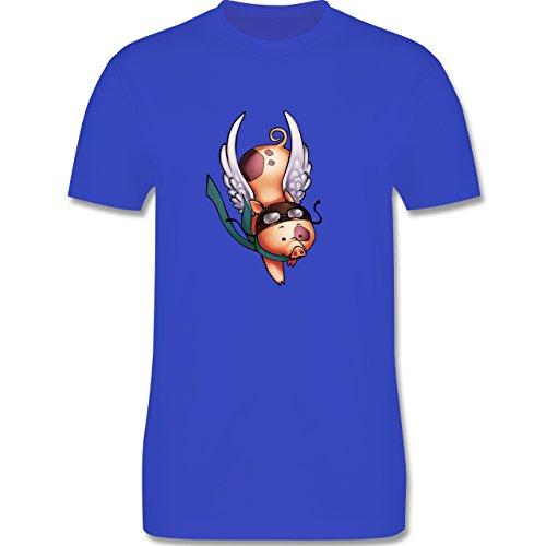 Sonstige Tiere - Fliegendes Schwein - Herren Premium T-Shirt Royalblau
