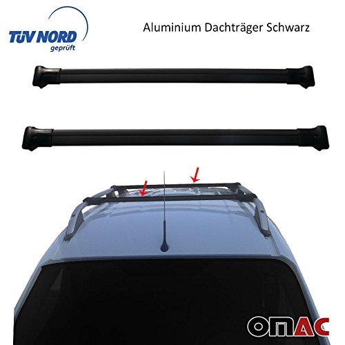 Alu Dachträger Gepäckträger SCHWARZ Ford Transit/Tourneo Courier mit TÜV / ABE