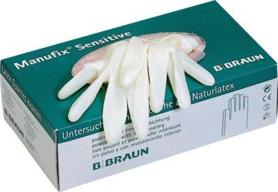 B.Braun Manufix Guantes desechables sensitivo Tamaño: 8 - 9 alto