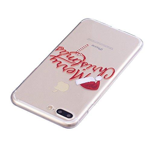 Coque iPhone 8 Plus, iPhone 7 Plus Case, Voguecase [Ultra Fin] [Anti Choc] Nouveau TPU Silicone Conçu pour Noël, Exact Fit / Léger / Souple Housse Etui Coque Pour Apple iPhone 7 Plus/iPhone 8 Plus 5.5 Merry Christmas