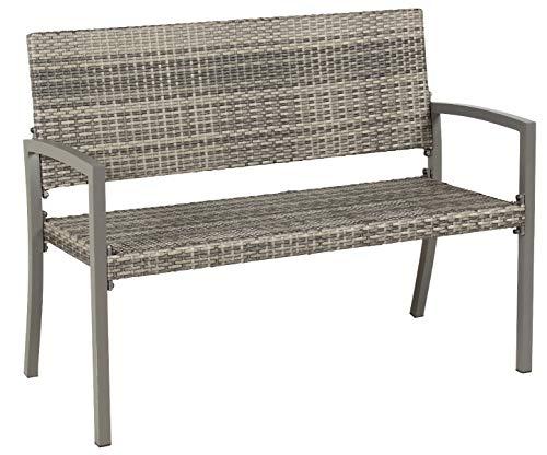 acamp 2-Sitzer Gartenbank Dijon anthrazit grau meliert