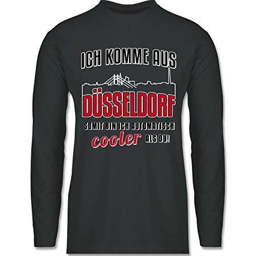 Städte - Ich komme aus Düsseldorf - Longsleeve / langärmeliges T-Shirt für Herren Anthrazit