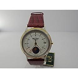 Paul Picot Exclusivite 4848-3158Quartz Watch (Rechargeable) quandrante Steel White Leather Strap
