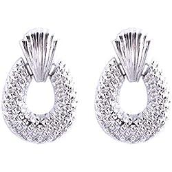 Pendientes de piña retro estilo europeo Pendientes de gota de oro Personalidad Pendientes de aro Moda mujer accesorio de la joyería
