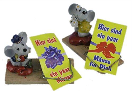2-er Set Mausefalle für Geldgeschenke, mit Geldbriefchen