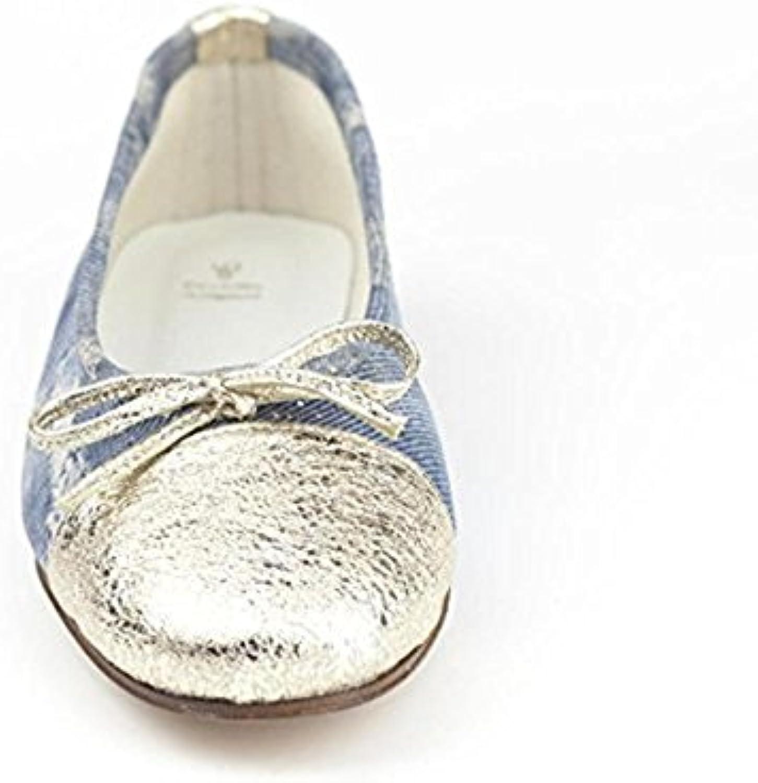 Piccirillo Artigiani Zapato Bailarina Hecha a Mano EN Cuero Real