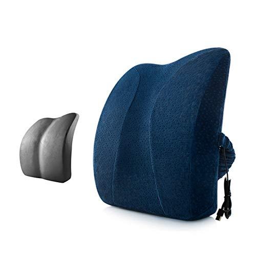 Schienale lombare cuscino ergonomico bambù bamboo memory schiuma schiena cuscino lombare di progettazione ortopedico,blue,40x36x9.5cm