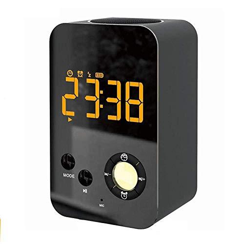BBZXLL Smart Wecker-LED Bluetooth-Lautsprecher Bunte Lichter LCD-Spiegel-Display Snooze Clock Kann Freihändig Sein Anruf 3 Datei Helligkeitseinstellung -