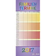 Regenbogen 2017 - A&I Familienplaner mit 5 Spalten, Familienkalender  -  19,5 x 45 cm