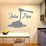 Kreative Gabel Italien nudeln Vinyl Wandaufkleber Tapete Pvc Wandtattoos restaurant Küche Dekoration 60 * 78 cm