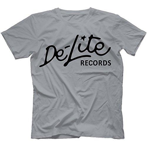 De-Lite Records T-Shirt in 13 Farben Grau
