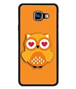 Samsung Galaxy A5 (6) 2016, Samsung Galaxy A5 2016 Duos, Samsung Galaxy A5 2016 A510F A510M A510Fd A5100 A510Y, Samsung Galaxy A5 A510 2016 Edition Back Cover Love Owl Icon Design From FUSON