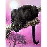 Wc-asdcc DIY Vollbohrer 5D DIY Diamant Malerei Panthers Tier Tier Stickerei Kreuzstich Strass Mosaic Painting Geschenk 40X30 cm
