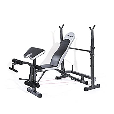 TOMSHOO Adjustable Weight Bench - Heavy Duty Incline Sit up Bench - Decline Bench - Training Fitness Gym Flat Incline Multiuse Bench from TOMSHOO