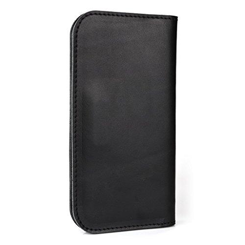 Étui portefeuille en cuir véritable pour Sony Xperia Z3Compact/L Housse peau noir