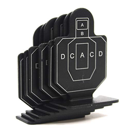 Arichtop 6PCS / Set métal Airsoft Chasse Tir Tactique Set Target Toy Durable Tir à l'arc Kit Target Practice Accessoires