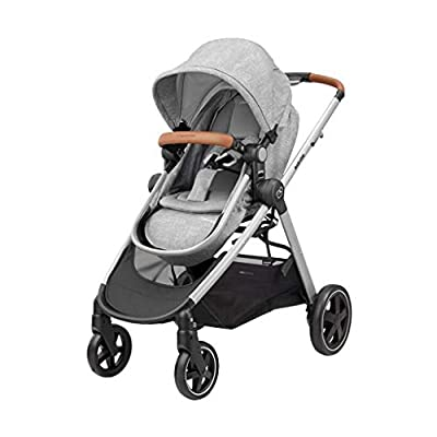 Maxi-Cosi Zelia Baby Pushchair, Lightweight Urban Stroller from Birth, Travel System with Bassinet, 0 Months - 3.5 Years, 0 - 15 kg, Nomad Grey