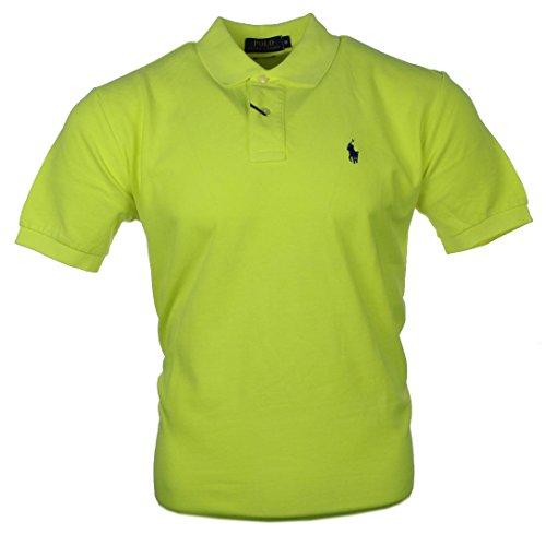 167d8a07571a Ralph Lauren Herren Polo Shirt Verschiedene Farben Classic   Custom Fit  Neon Gelb