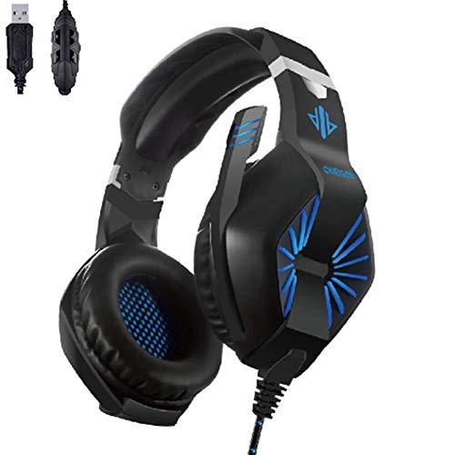 GUAN Game Earphone Head -tragende Kabel Belt Mikrofon Wire -gesteuert 7.1 Kanal USB Competitive Earphone -