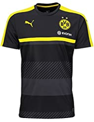 Puma BVB – Camiseta para hombre Training Jersey with Sponsor, Black de cyber Yellow, 3 x l, 749845 02