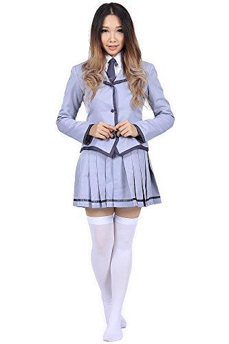 De-Cos Cosplay Costume Kunugigaoka Middle School Female Uniform Fuwa Yuzuki Set