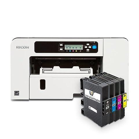 Sublimation Imprimante Kit de démarrage de Ricoh Argent Rucker SG 3110DN avec cartouches d'encre et papier