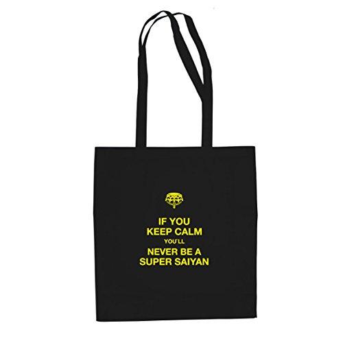DBZ: Be a Super Saiyan - Stofftasche / Beutel, Farbe: schwarz