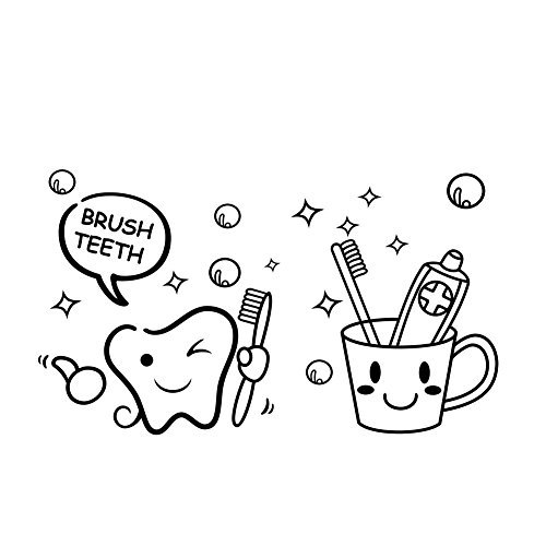 Winhappyhome-Diente-Cepillo-de-dientes-pegatinas-de-pared-para-bao-de-lavado-habitacin-Azulejos-espejo-de-fondo-de-la-decoracin-Sticker-Adhesivos