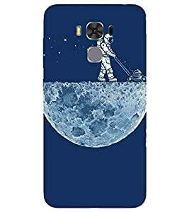 For Asus Zenfone 3 Max ZC520TL beautiful moon ( beautiful moon, moon, scientist, star ) Printed Designer Back Case Cover By CHAPLOOS