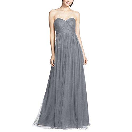 Ishine elegante donna vestito senza spalline lunghi eleganti abiti da sera cerimonia cocktail abito
