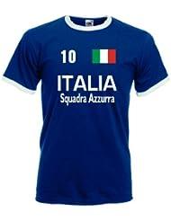 Italia/Italien Squadra Azzurra Herren T-Shirt Retro Trikot|