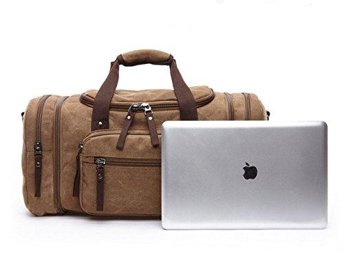 Happytimebelt 53,3cm Trim Weekender borsa da viaggio, borsone in tela, Coffe Coffe