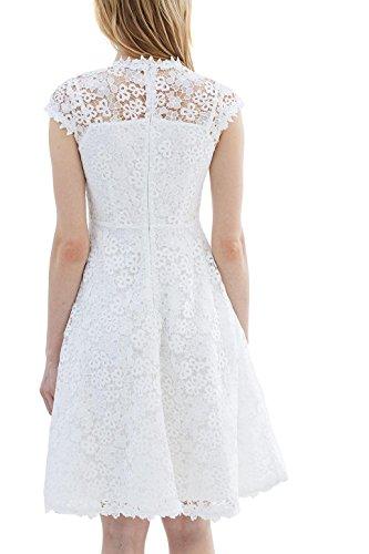 ESPRIT Collection Damen Kleid Weiß (Off White 2 111)