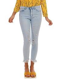 La Modeuse Jeans taille haute à la coupe slim