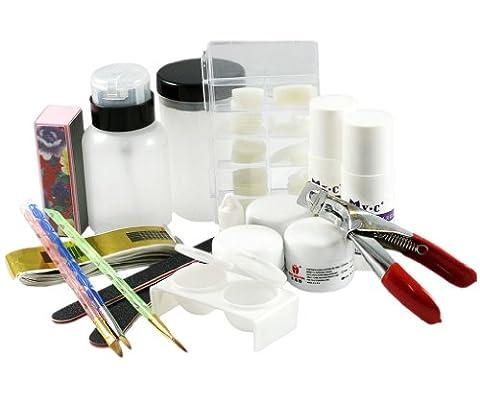 Kit de manucure ongle acrylique résine poudre bouts faux des ongles professionnel