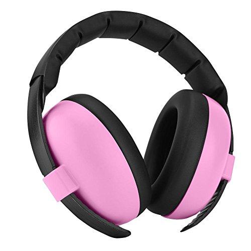 Vbestlife paraorecchie per bambini cuffie antirumore per bambini/bebè cuffie protettive riduzione di rumore con 3 strati di schiuma isolante professionale per orecchie(rosa)