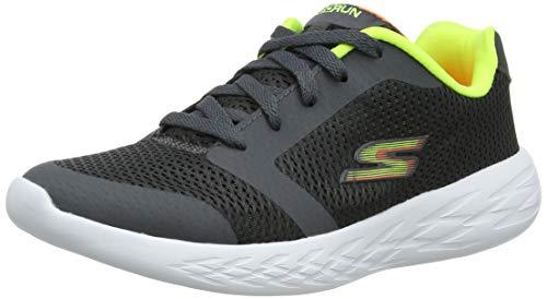 Skechers Jungen Go Run 600-Zeeton Sneaker, Grau (Charcoal/Lime Cclm), 37 EU (Skechers Jungs Sportliche Schuhe)