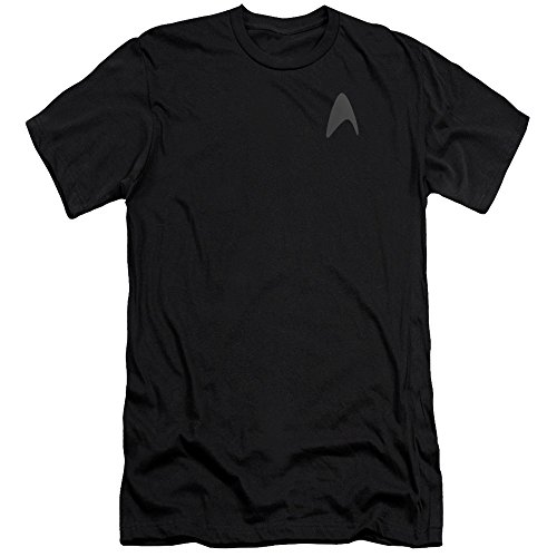Star Trek Darkness Captain Kirk Command Logo Uniform Costume Adult Slim T-Shirt