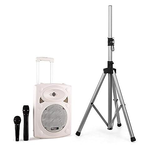 Ibiza port8vhf-bt Set Système PA portable Bluetooth avec trépied (haut-parleurs